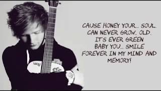 Video Ed Sheeran - Thinking Out Loud Lyrics With Music MP3, 3GP, MP4, WEBM, AVI, FLV Agustus 2018