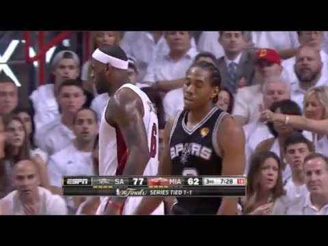 Kawhi Leonard locks down LeBron, 8 pts/7 TOs last 3 qtrs - 2014 Finals Game 3