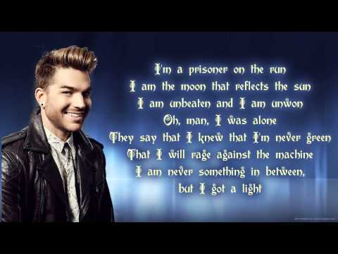Adam Lambert - The Light lyrics