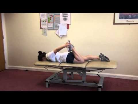 Knee Stretch 2: Quadriceps stretch in prone lie