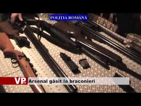 Arsenal găsit la braconieri