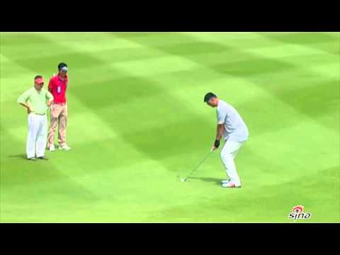 Yao is playing golf in his retirement
