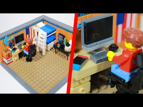 I BUILT MY BEDROOM IN LEGO