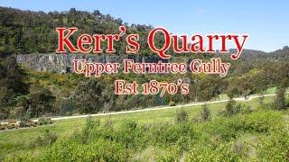 Sassafras Gully Australia  city photos : RF Kerr Quarry, Upper Ferntree Gully, Melbourne Australia.