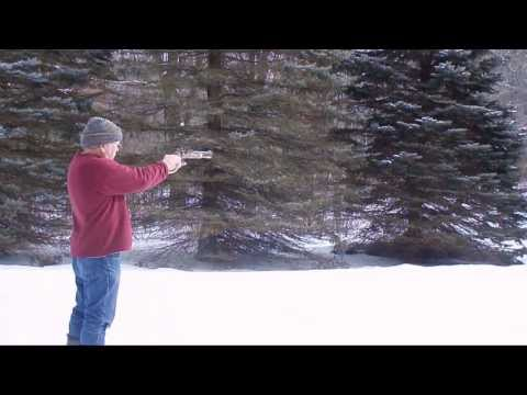 Firing the CVA .50 caliber black powder side lock pistol.