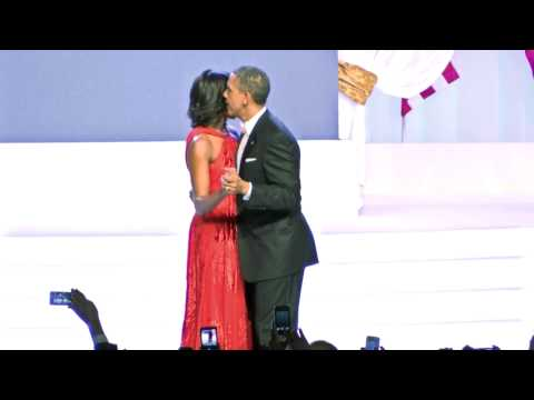 President Obama and First Lady Michelle Obama Dancing at Inaugural Ball