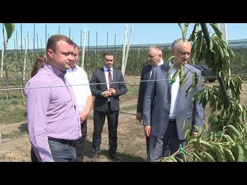Глава государства посетил коммуну Рэдень Страшенского района