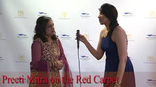 Preeti Mitra on The Foundations TV Red Carpet
