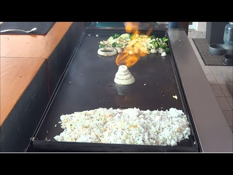Japanese Hibachi Teppanyaki cooking on your grill at Home