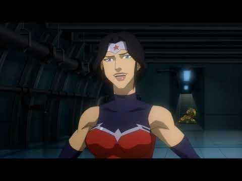 Wonder Woman meets Superman! - Justice League: War (2014) - Movie Clip HD