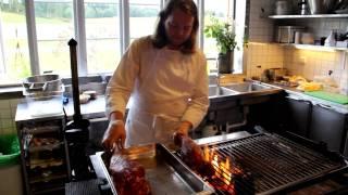 Magnus Nilsson in his kitchen at Fäviken, Sweden