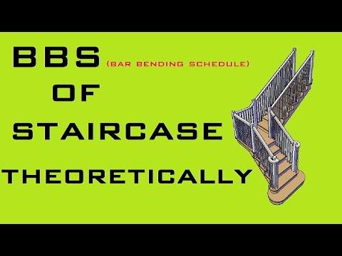BBS (Bar Bending Schedule) - Stair Reinforcement Details