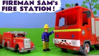 Fireman Sam Fire Station Toys with Thomas and Friends Flynn & Paw Patrol Marshall Toy Unboxing TT4U