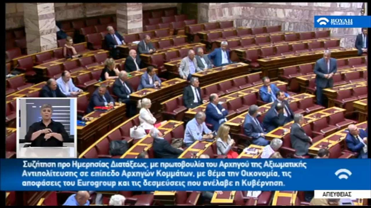 Αντιπαράθεση Μ. Βορίδη – Π. Καμμένου στη Βουλή
