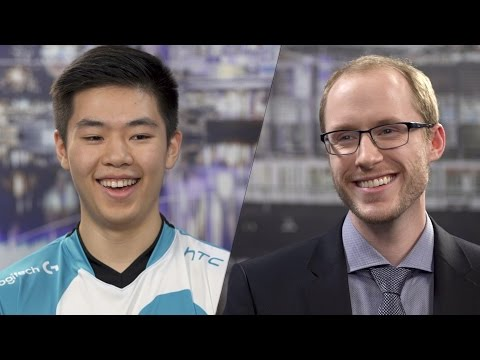 NA LCS Spring Finals: Azael Interview with Smoothie видео