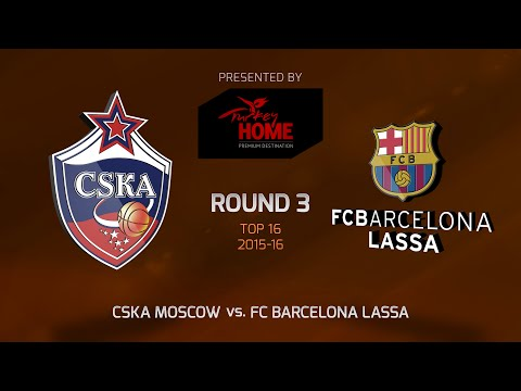 Highlights: Top 16, Round 3, CSKA Moscow 93-82 FC Barcelona Lassa