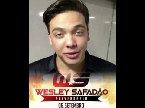 Convite de Wesley Safadão - Aniversário em Brasília.
