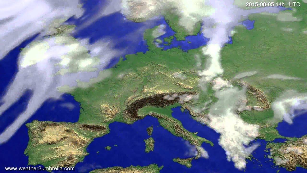 Cloud forecast Europe 2015-08-01