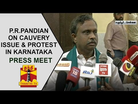 P-R-Pandians-Press-meet-on-Cauvery-issue-Karnatakas-bandh-Thanthi-TV