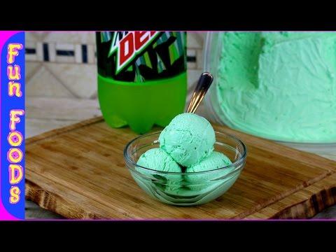 Mountain Dew Ice Cream | How to Make Homemade Mtn Dew Ice Cream no machine (видео)