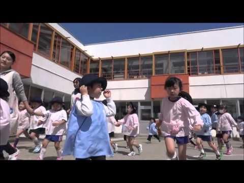 笠間 友部 ともべ幼稚園 子育て情報「今年度初の3分間マラソン」