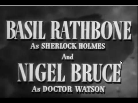 1943 06 Of 14 B 068   Sherlock Holmes   Holmes Faces Death, Basil Rathbone, Nigel Bruce