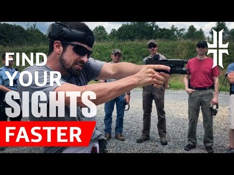 Shooting Tip: Find your Pistol Sights FASTER (видео)