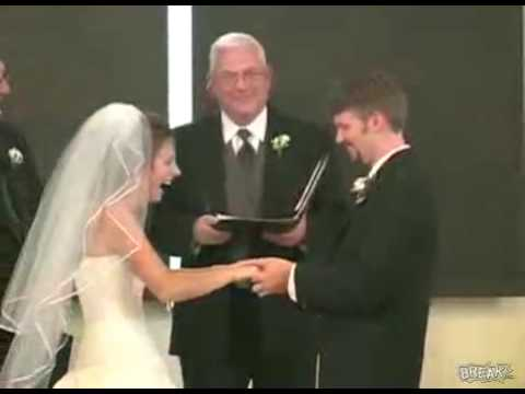 Bride Can't Stop Laughing During Wedding Vows