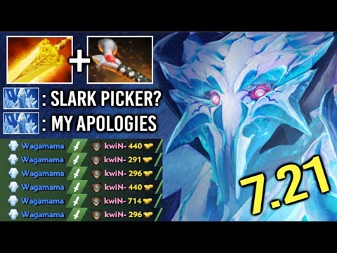 New Hero To Counter Slark! Mid Ancient Apparition Rod of Atos No Escape Build by Waga 7.21 Dota 2