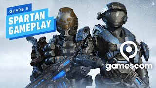 5 Minutes of Gears 5 Horde Mode PC Gameplay in 4K - Gamescom 2019 by IGN