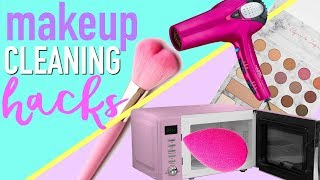 How To Clean Beauty Blender, Eyeshadow, Makeup and More!!!! | Makeup Cleaning Hacks | Paris & Roxy