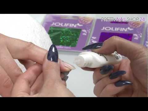 Jolifin Transfer Nagelfolie für funkelnde Nailart Kreationen