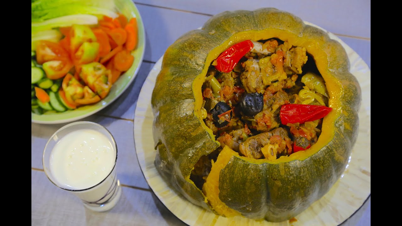 Baked Stuffed Pumpkin with Rice