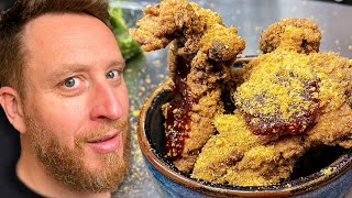 Jerk Buttermilk Fried Chicken fr TV chef Great British Menu Winner James Cochran - Food Busker by Food Busker