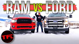 Here's What You Gain ( And Lose) When You Spend $30K More on a HD Truck: 2020 Ram 3500 vs Ford F-2 by The Fast Lane Truck