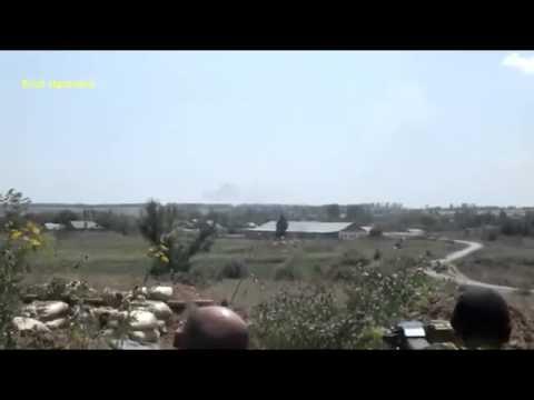 Идет Бой! террористы бьют из гранатомета АГС 17 по Армии ВСУ 31 07 Донецк Украина 2017 (видео)