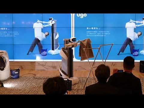 Remote controlled robot, Ugo, laundry, Mira Robotics