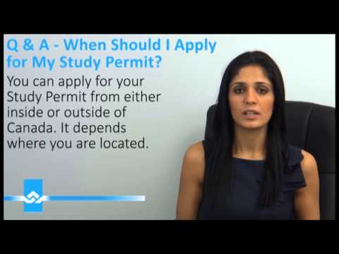 When to Apply for Canadian Study Permit Video