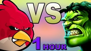Video Angry Birds vs Hulk (1 hour Edition) MP3, 3GP, MP4, WEBM, AVI, FLV Juni 2018