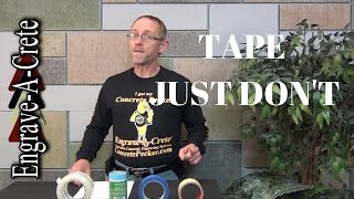 Decorative Concrete Quick Tip - Tape