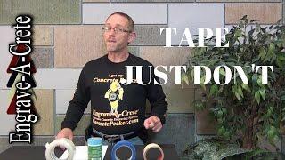Decorative Concrete Quick Tip - Tape