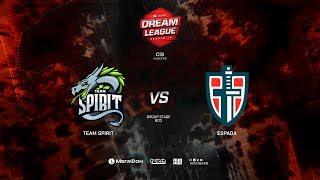 Team Espada vs Team Spirit, DreamLeague Minor Qualifiers CIS,bo3, game 1 [NS & Maelstorm]