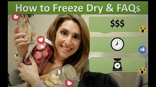 How to freeze dry food at home (2018) | Freeze dryer questions
