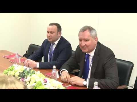 Igor Dodon a avut o întrevedere cu Dmitri Rogozin la Sankt Petersburg