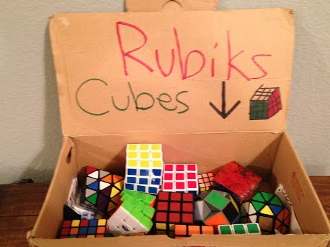 My Rubiks cube collection 2016