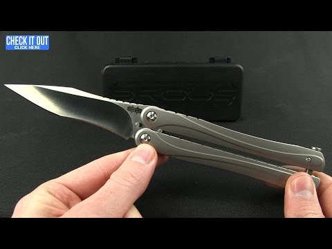 "Brous Blades Balisong B3 Butterfly Knife SS (4.25"" Stonewash)"