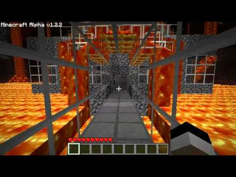 Minecraft - The Nether - Secure fast-travel and buildings