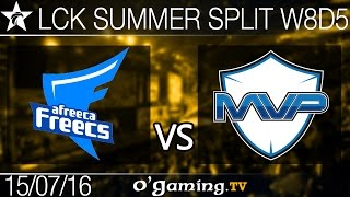 MVP vs Afreeca Freecs - LCK Summer Split 2016 - W8D5