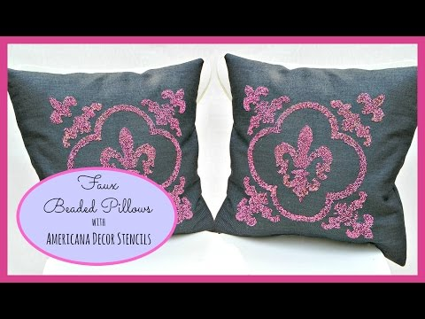 Create Custom Beaded Pillows