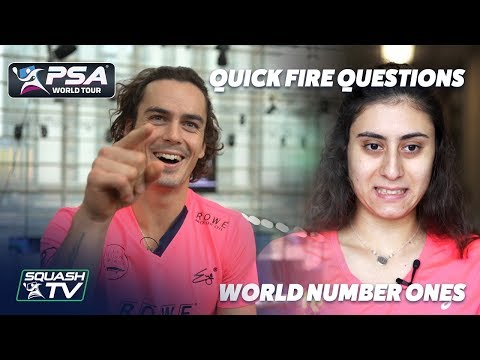 Squash: Quick Fire Questions - World Number Ones